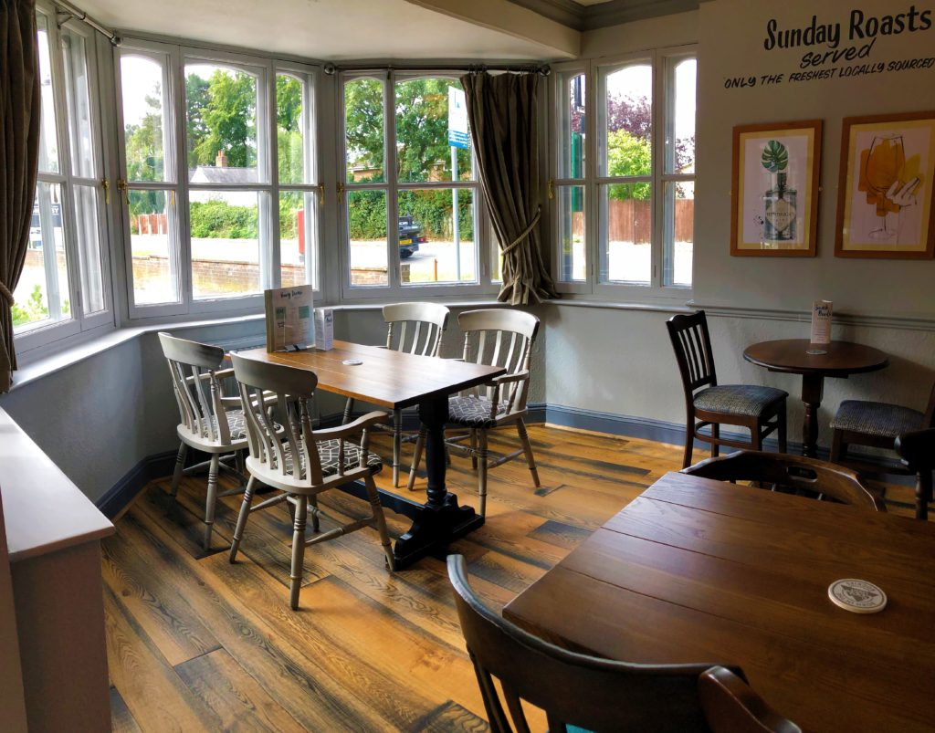 restaurant seating at the marquis of granby pub stevenage