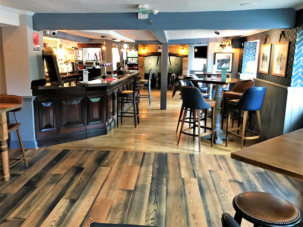 bar and seating at the marquis of granby pub stevenage