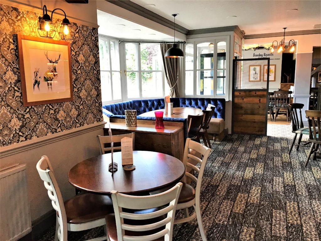 restaurant area at the marquis of granby pub stevenage