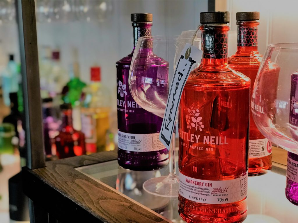 whitley neill gin at the marquis of granby pub stevenage