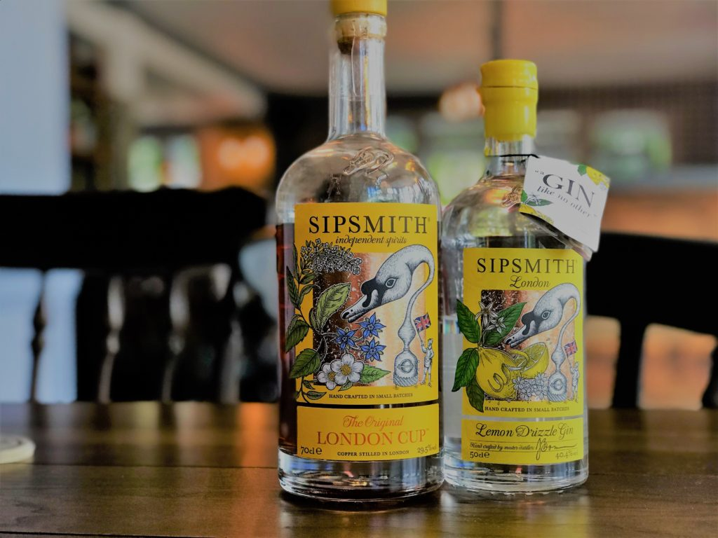 sipsmith gin at the marquis of granby pub stevenage