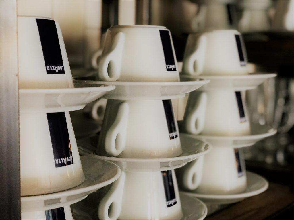 lavazza coffee cups at the marquis of granby pub stevenage