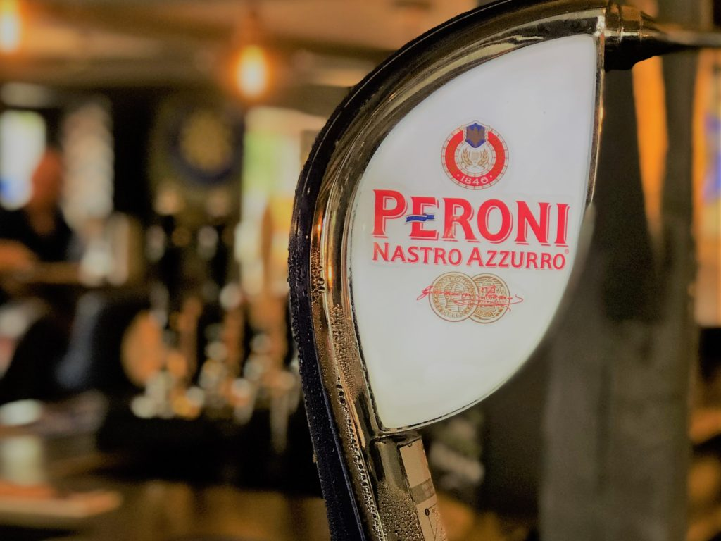 peroni beer tap at the marquis of granby pub stevenage
