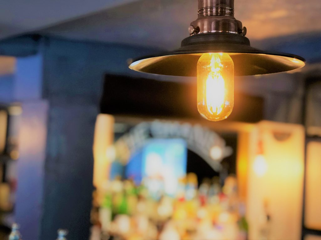 feature over bar lighting at the marquis of granby pub stevenage